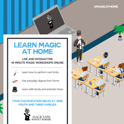 Magicians Without Borders Life interactive magic workshops